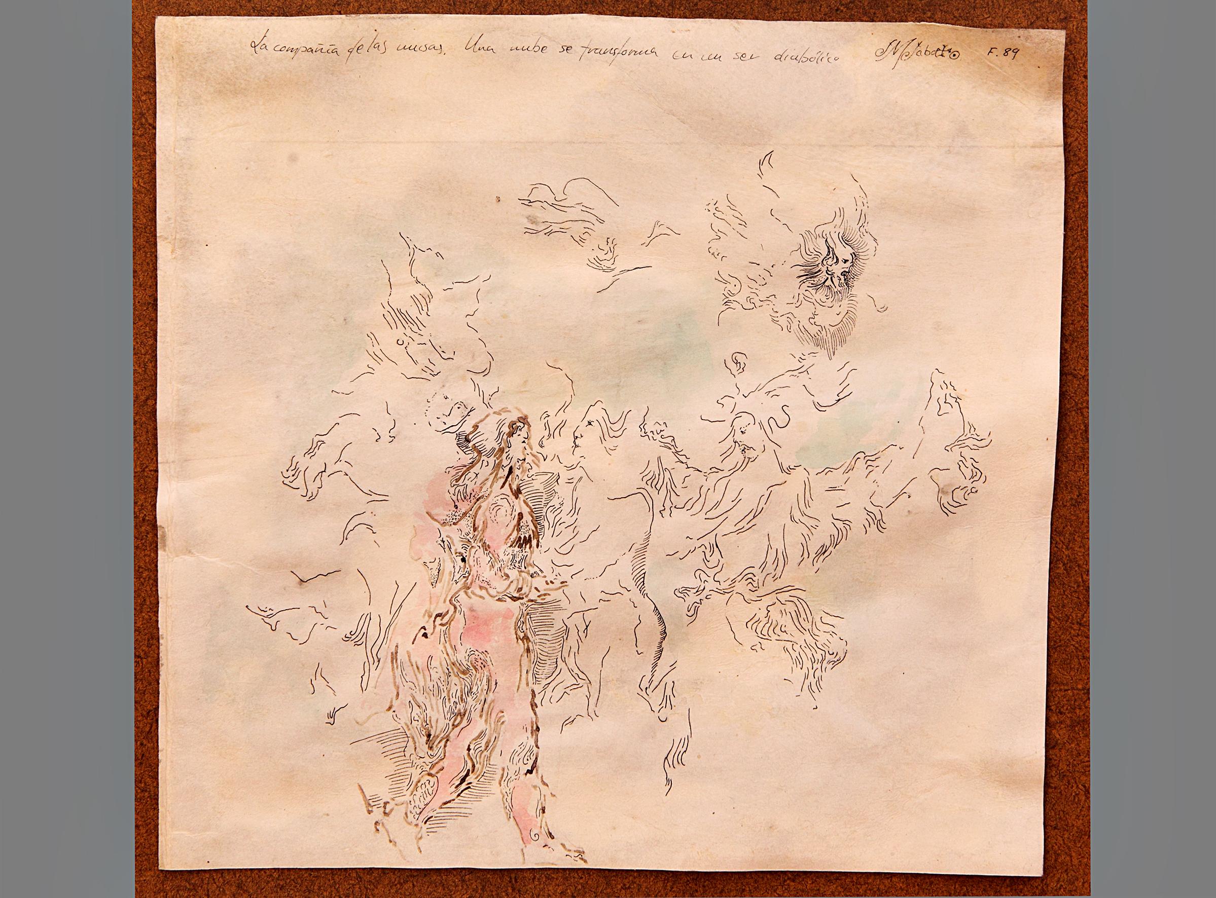 Fantasía. acuarela y tinta sobre pergamino.
